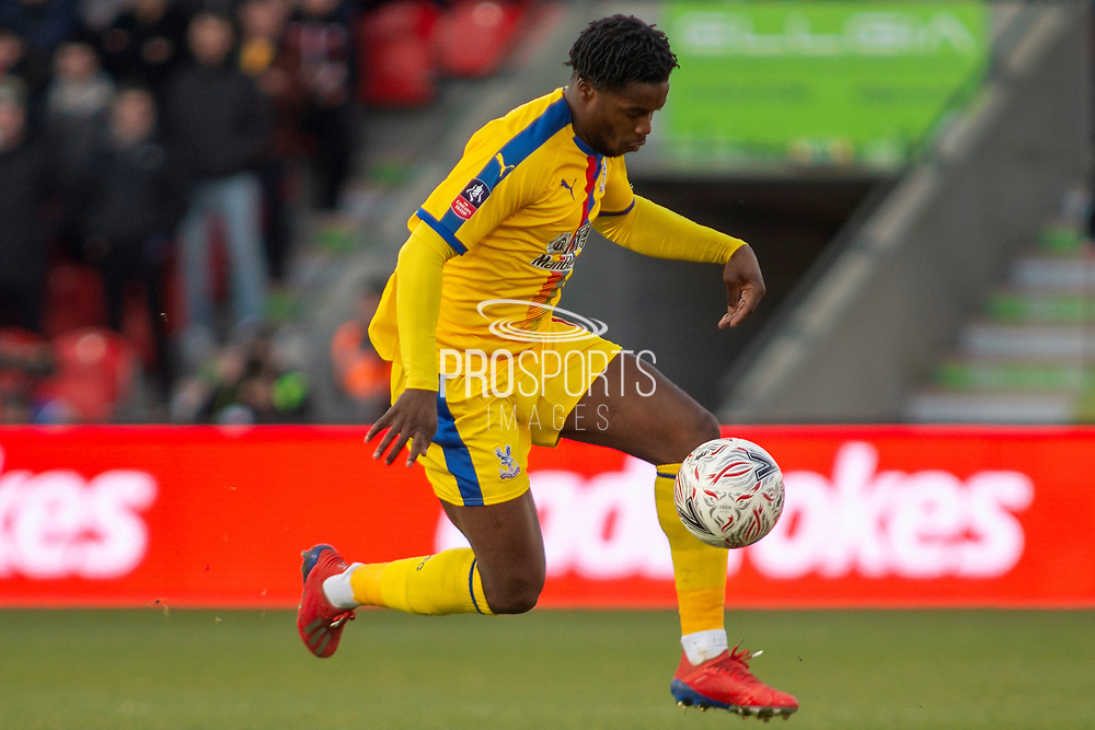*** during the The FA Cup 5th round match between Doncaster Rovers and Crystal Palace at the Keepmoat Stadium, Doncaster, England on 17 February 2019.