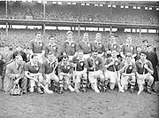 Neg No: 1000/a36109-a3625...17031956IPHCF.17.03.1956...Interprovincial Railway Cup Hurling Championship - Final...Leinster.05-11..Munster.01-07...Leinster. ..A. Foley (Wexford), D. Ferguson (Dublin), N. ODonnell, R. Rackard, J. English, W. Rackard (Wexford), W. Walsh (Kilkenny), J. Morrissey (Wexford), J. McGrath (Westmeath), S. Clohosey (Kilkenny), E. Wheeler, T. Flood (Wexford), L. Cashin (Dublin), N. Rackard (Wexford), R. Rackett (Kilkenny)..Sub.: S. Hearne (Wexford) for McGrath. . ....