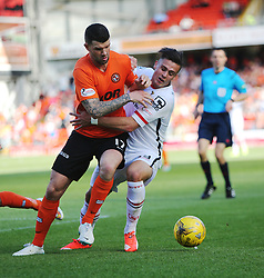 Dundee United&rsquo;s Mark Durnan and Inverness Caledonian Thistle's Miles Storey. <br /> Dundee United 1 v 1 Inverness Caledonian Thistle, SPFL Ladbrokes Premiership game played 19/9/2015 at Tannadice.