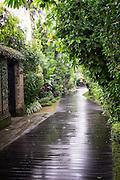 Ametis Villa in Canggu.  Bali, Indonesia Pathway of Ametis Villa in Canggu. Bali, Indonesia.