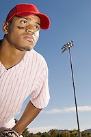 Baseball Outfielder Waiting For Play