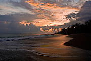 Beach at sunset, Osa Peninsula Costa Rica.