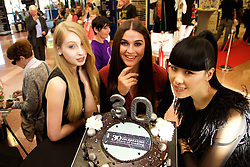 MERRION SHOPPING CENTRE TRADING  30 YEARS IN THE HEART OF DUBLIN 4.<br />CELEBRATED THEIR 30TH BIRTHDAY <br /> Pictured at The Merrion Centre 30th Birthday Party Celebrating were:<br /> Hannah Goff, Lyn Kelly and Yomiko Chen Conway.<br /> The Merrion Centre was delighted to have their 30th Birthday Party and invited all of their customers to come along and join in our celebrations on the day. The Merrion Shopping Centre chose this as an opportunity to reward and thank all of their Customers for shopping with them over the last 30years in the heart of Dublin 4.<br />Fun on the day included an Artisan Food Fair from all of their Tesco Suppliers, with Musical Entertainment, Chocolate and Ice cream surprises, Beauty make overs and demonstrations, skin & hair consultations, nutritional one to one advice, and some fantastic offers on the day from all of our 18  retail stores. They had some wonderful prizes to be won and raffle in aid of Temple Street Hospital.<br />The evening was closed off with a fantastic fashion show from Ribbon Rouge (Ribbon Rouge in The City) from their Ladies Boutique, owned by Joanne Mallon a recent addition to The Merrion Centre since March . Featuring labels such as In -Wear, Oky Coky, FCUK, Armani, Diva and many more. Fashion show also featuring a range of shoes and boots from Cinders Shoes Boutique trading 25years in the Merrion Centre.<br />The Merrion Shopping Centre who offers a boutique shopping experience in the heart of Dublin 4.  would like to thank all of our loyal customers down through the years