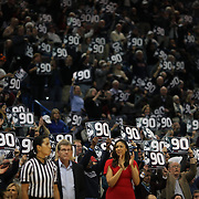 HARTFORD, CONNECTICUT- JANUARY 10: Head coach Geno Auriemma of the Connecticut Huskies after his team ninetieth consecutive win during the the UConn Huskies Vs USF Bulls, NCAA Women's Basketball game on January 10th, 2017 at the XL Center, Hartford, Connecticut. (Photo by Tim Clayton/Corbis via Getty Images)