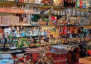Israel, Abu Ghosh, an Israeli Arab village west of Jerusalem in the Mateh Yehudah Regional councils in the Judean Mountains souvenir shop