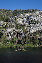 """""""Eagle Lake 4"""" - Photograph of an small island in Eagle Lake in the Tahoe Desolation Wilderness."""