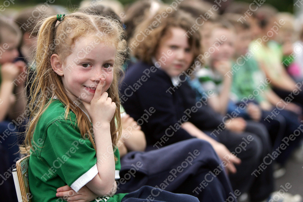 PIctured at Gael Scoil Kilrush to launch their green flag on Friday 17th June 2011 was Sorcha Ni Mhaoldomhnaigh.<br /> Emma Jervis / Press 22