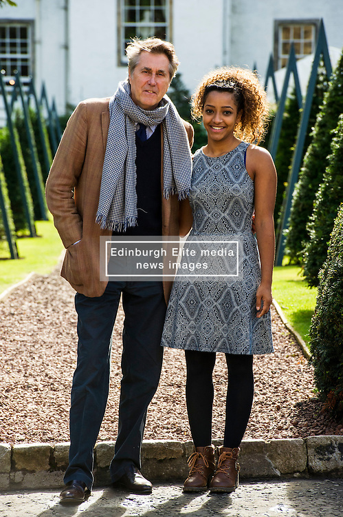 Pictured: Bryan Ferry and Zainab Magzoub, Prince's Trust ambassador<br /> Judy Murray and Bryan Ferry were among the celebrities attending the Lunch With An Old Bag event in Edinburgh today, which saw 400 women come together to raise money for disadvantaged children<br /> <br /> Ger Harley   EEm 2 September 2016