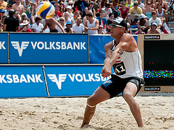 Alexander Horst of Austria at A1 Beach Volleyball Grand Slam tournament of Swatch FIVB World Tour 2010, for bronze medal, on July 31, 2010 in Klagenfurt, Austria. (Photo by Matic Klansek Velej / Sportida)
