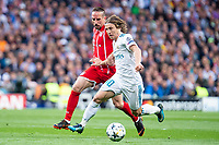 Real Madrid Luka Modric and Bayern Munich Franck Ribery during Semi Finals UEFA Champions League match between Real Madrid and Bayern Munich at Santiago Bernabeu Stadium in Madrid, Spain. May 01, 2018. (ALTERPHOTOS/Borja B.Hojas)