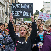 Pro-abortion campaigners gather outside Irish embassy in London