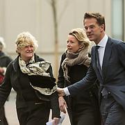 NLD/Utrecht/20140215 - Herdenkingsdienst Els Borst in de Domkerk, Premier Mark Rutte en Kasja Ollongren
