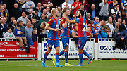 Patrick Bamford celebrate's his first goal for Palace during the Pre-Season Friendly match between Bromley and Crystal Palace at the Courage Stadium, Bromley, United Kingdom on 30 July 2015. Photo by Michael Hulf.