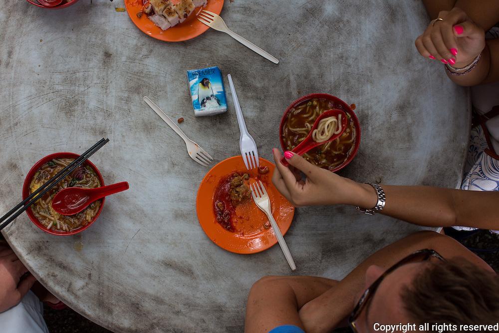 asam (sour laksa) also called Penang Laksa, Penang, Malaysia