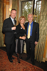 Left to right, writer CHRISTOPHER LUSCOMBE, ELAINE PAIGE and actor NICKOLAS GRACE at a tribute lunch for Elaine Paige hosted by the Lady Taverners at The Dorchester, Park Lane, London on 13th November 2007.<br /><br />NON EXCLUSIVE - WORLD RIGHTS