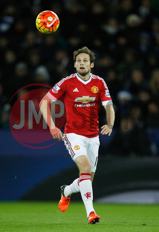 Daley Blind of Manchester United in action  - Mandatory byline: Jack Phillips/JMP - 07966386802 - 28/11/2015 - SPORT - FOOTBALL - Leicester - King Power Stadium - Leicester City v Manchester United - Barclays Premier League