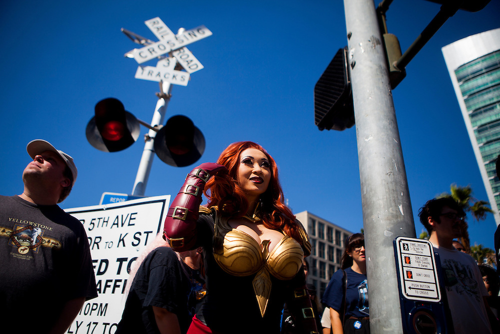 Cosplayer Yaya Han heads out to Comic Con portraying Phoenix from Marvel Avengers Alliance.