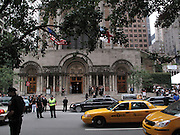 Atmosphere at the Walter Cronkite funeral at The St. Bartholomew Church on July 23, 2009 in New York City