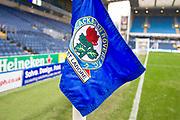 Blackburn Rovers corner flag. EFL Sky Bet Championship match between Blackburn Rovers and Birmingham City at Ewood Park, Blackburn, England on 26 December 2019.