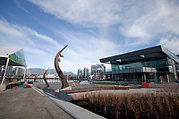 View of Science World (home of Sochi2014 during the Games) and the Community Centre in the Vancouver Athletes Village located on False Creek, on Jan. 16th, 2010 -<br /> 2010 OLYMPIC WINTER GAMES - OLYMPIC and PARALYMPIC VILLAGE -<br /> 16JAN10 - VANCOUVER, CANADA<br /> Credit : ©Stephanie Lamy / DPPI<br />  / DPPI