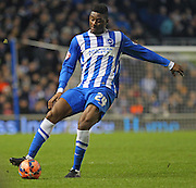 Brighton's Rohan Ince during the The FA Cup match between Brighton and Hove Albion and Arsenal at the American Express Community Stadium, Brighton and Hove, England on 25 January 2015. Photo by Phil Duncan.