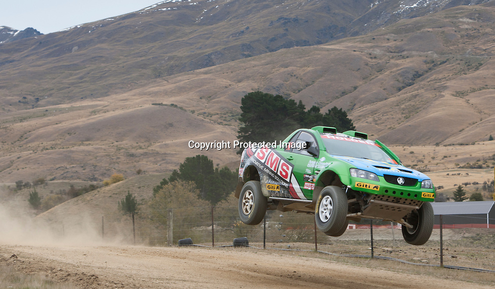 Steve Riley (AUS) (Holden VF Ute) at the Race to the Sky in the Cardrona Valley, Wanaka on the 19th April 2015/Photo:James Allan/www.photosport.co.nz