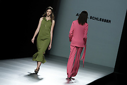 September 16, 2016 - Madrid, Spain - Models walk during Angel Schlesser Fashion Show at Madrid Fashion Week Spring/Summer 2017/18 at Ifema, on September 16, 2016, in Madrid, Spain. (Credit Image: © Oscar Gonzalez/NurPhoto via ZUMA Press)
