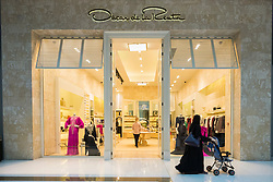 view of Oscar de la Renta fashion boutique inside Dubai Mall in United Arab Emirates