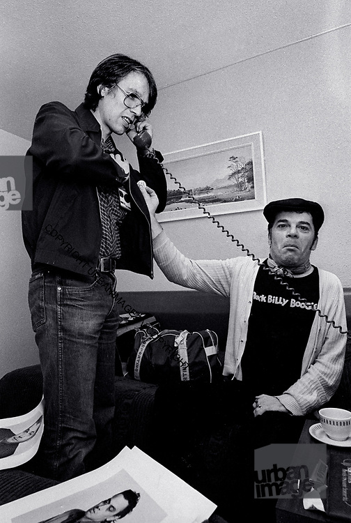 Manager Peter Jenner with Ian Dury and the Blockheads 1979