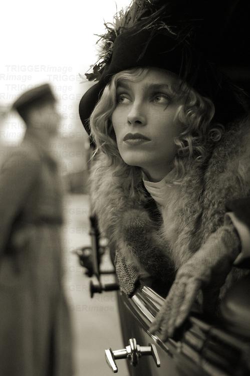A model wearing a hat