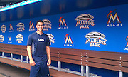 Marco at the Miami Marlins Stadium (practice before Cuba)
