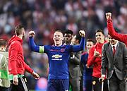 STOCKHOLM, 2017-05-24: Wayne Rooney under UEFA Europa League Finalen mellan Ajax och Manchester United p&aring; Friends Arena den 24,maj 2017 i Stockholm, Sverige.  Foto: Nils Petter Nilsson/Ombrello<br />***BETALBILD***
