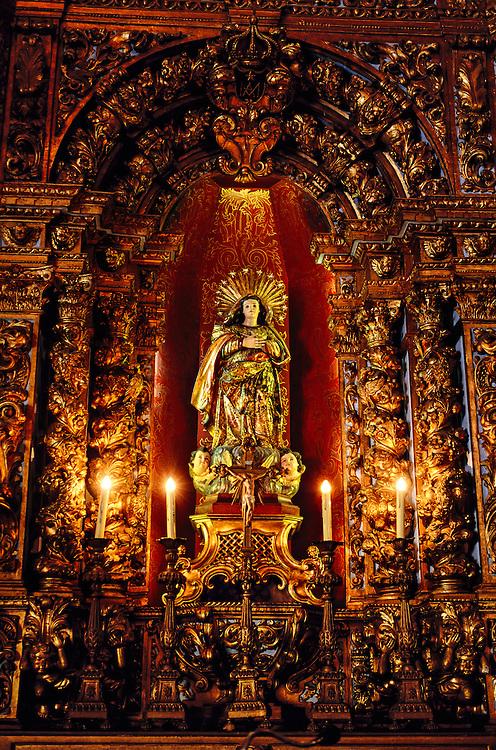 Interior of Santo Antonio Convent, Centro, Rio de Janeiro, Brazil