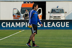 20.08.2013, Sofia, BUL, UEFA CL Play off, FC Basel, Training, im Bild, Trainer Murat Yakin (Basel) // during the UEFA Champions League Trainings Match of FC Basel in Sofia, Bulgaria on 2013/08/20. EXPA Pictures © 2013, PhotoCredit: EXPA/ Freshfocus/ Andy Mueller<br /> <br /> ***** ATTENTION - for AUT, SLO, CRO, SRB, BIH only *****