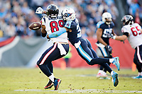 NASHVILLE, TN - DECEMBER 3:  Kevin Byard #31 of the Tennessee Titans knocks away a pass thrown to Stephen Anderson #89 of the Houston Texans at Nissan Stadium on December 3, 2017 in Nashville, Tennessee.  The Titans defeated the Texans 23-14.  (Photo by Wesley Hitt/Getty Images) *** Local Caption *** Kevin Byard; Stephen Anderson