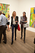 michaela de pury; YASSMINE GHANDEHAEI,, Gerhard Richter: Panorama. Tate Modern. London. 4 October 2011. <br /> <br />  , -DO NOT ARCHIVE-© Copyright Photograph by Dafydd Jones. 248 Clapham Rd. London SW9 0PZ. Tel 0207 820 0771. www.dafjones.com.