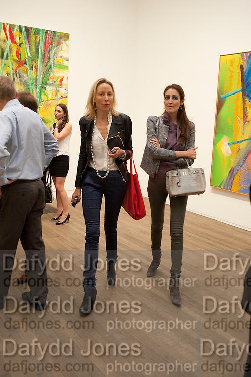 michaela de pury; YASSMINE GHANDEHAEI,, Gerhard Richter: Panorama. Tate Modern. London. 4 October 2011. <br /> <br />  , -DO NOT ARCHIVE-© Copyright Photograph by Dafydd Jones. 248 Clapham Rd. London SW9 0PZ. Tel 0207 820 0771. www.dafjones.com.