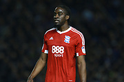 Birmingham City striker Clayton Donaldson (9) during the EFL Sky Bet Championship match between Brighton and Hove Albion and Birmingham City at the American Express Community Stadium, Brighton and Hove, England on 4 April 2017. Photo by Bennett Dean.