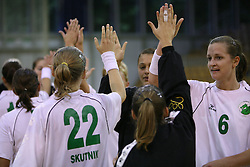 Players of Olimpija after  handball game between women team RK Olimpija vs ZRK Brezice at 1st round of National Championship, on September 13, 2008, in Arena Tivoli, Ljubljana, Slovenija. Olimpija won 41:17. (Photo by Vid Ponikvar / Sportal Images)