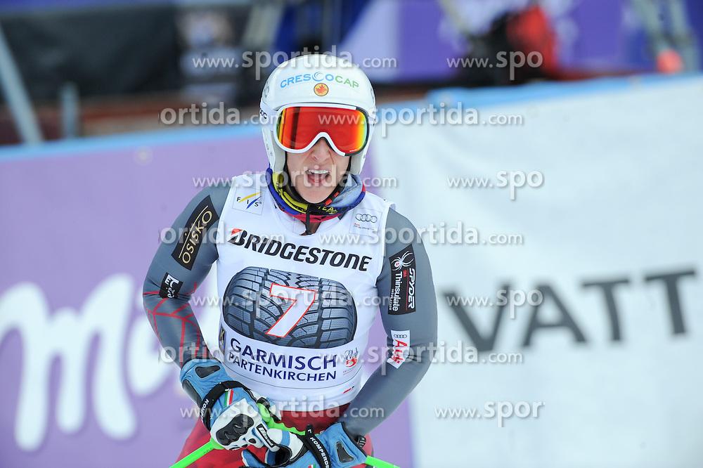 06.03.2015, Kandahar, Garmisch Partenkirchen, GER, FIS Weltcup Ski Alpin, Abfahrt, Damen, 1. Trainingslauf, im Bild Larisa Yurkiw (CAN) // Larisa Yurkiw of Canada during 1st training run for the ladie's Downhill of the FIS Ski Alpine World Cup at the Kandahar course, Garmisch Partenkirchen, Germany on 2015/03/06. EXPA Pictures © 2015, PhotoCredit: EXPA/ Erich Spiess