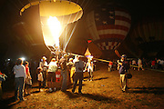 Balloon glow with Danielle, Jackie, Mitch and Addyson, Saturday, Sept. 27, 2008 at Bowman Field in Louisville.