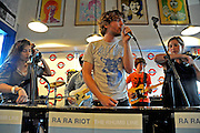 Ra Ra Riot performing at Waterloo Records, Austin Texas, October 3 2008.