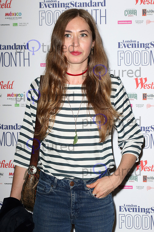 Anoushka Beckwith, London Evening Standard Food Month - launch, Banking Hall, London UK, 30 May 2017, Photo by Richard Goldschmidt