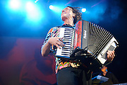 """Weird Al Yankovic performs on June 3, 2011at the Family Arena in St. Charles, Missouri in support of his album """"Alpocalypse."""" © 2011 Todd Owyoung."""