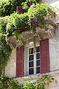 Quaint town of Bourdeilles popular tourist destination near Brantome in Northern Dordogne, France