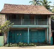 House on old Main Street of Ambalangoda 2014