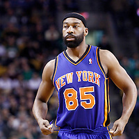 04 March 2012: New York Knicks point guard Baron Davis (85) during the Boston Celtics 115-111 (OT) victory over the New York Knicks at the TD Garden, Boston, Massachusetts, USA.