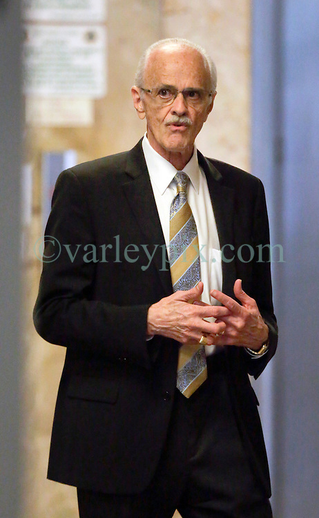 01 June  2015. New Orleans, Louisiana. <br /> Tom Roddy, business associate of Tom Benson leaves Civil District Court after giving testimony. Tom  Benson is the billionaire owner of the NFL New Orleans Saints, the NBA New Orleans Pelicans, various Mercedes dealerships, banks, property assets and a slew of business interests. Benson is attending a hearing to determine his level of competency to manage his business empire. Benson changed his succession plans and  decided to leave the bulk of his estate to third wife Gayle, sparking a controversial fight over control of the Benson business empire.<br /> Photo©; Charlie Varley/varleypix.com