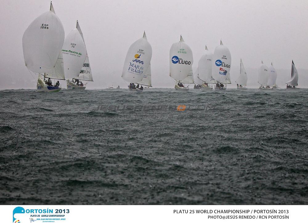 Platu 25 World Championships, Portosín , Galicia, Spain. 24-29 September 2013 . day 4©