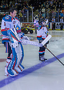 KELOWNA, CANADA - DECEMBER 27:  Pepsi Player of the game in the lineup with James Porter #1 of the Kelowna Rockets at the Kelowna Rockets game on December 27, 2017 at Prospera Place in Kelowna, British Columbia, Canada.  (Photo By Cindy Rogers/Nyasa Photography,  *** Local Caption ***